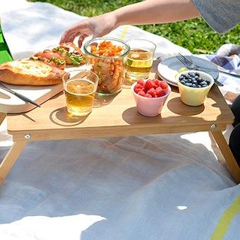 【次回10月入荷予定】折りたたみ式/ローテーブル(バンブー製)の商品写真