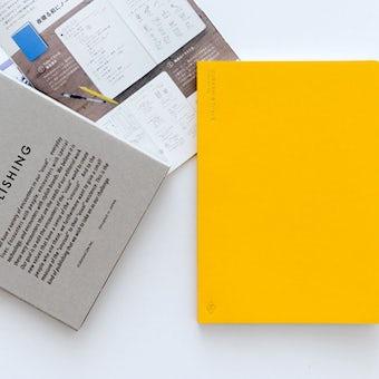 【取扱終了】KURASHI&Trips PUBLISHING/オリジナルノート(イエロー)ミニ冊子・使い方つきの商品写真