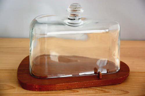 スウェーデンで見つけたガラスのチーズドーム(三角型)の商品写真