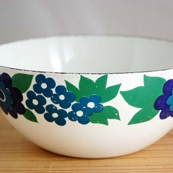 FINEL/フィネル/ホーロー製のボウル(お花模様)の商品写真