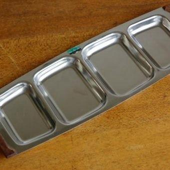 デンマーク製/ステンレス製サービングトレイ(仕切り4)の商品写真