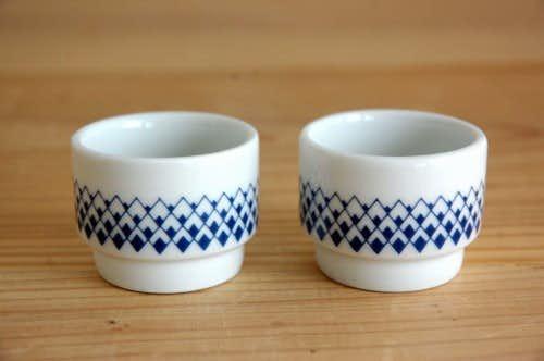 デンマークで見つけた可愛いエッグカップ2個セットの商品写真