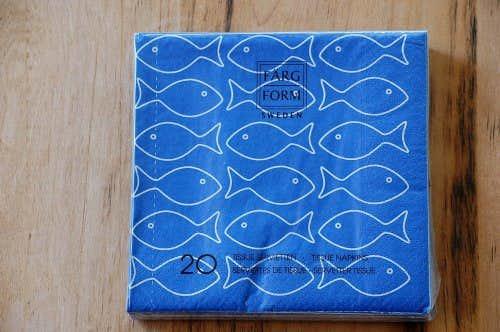 スウェーデン/Farg&Form/ペーパータオル/フィッシュ(コバルトブルー)の商品写真