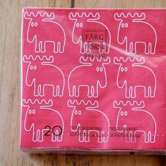 スウェーデン/Farg&Form/ペーパータオル/エルク(レッド)の商品写真