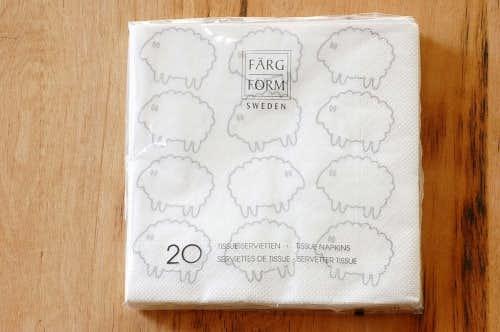 スウェーデン/Farg&Form/ペーパータオル/シープ(ホワイト)の商品写真