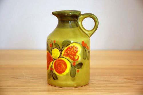 スウェーデンで見つけた古い花瓶(グリーン)の商品写真