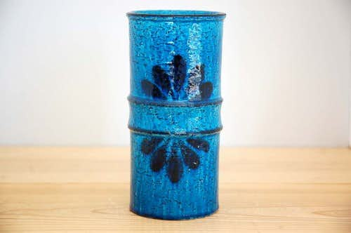 RORSTRAND/ロールストランド/DrejarGruppenデザイン/大変レアな陶器の花瓶(コバルトブルー)の商品写真