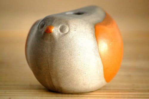 Upsala Ekeby/ウプサラエクビイ/陶器の小鳥キャンドルスタンド(オブジェ)の商品写真