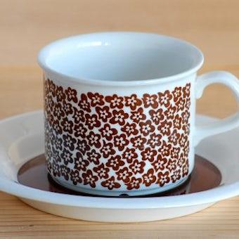 ARABIA/アラビア/Faenza/ブラウン/コーヒーカップ&ソーサー(少々難アリ)の商品写真
