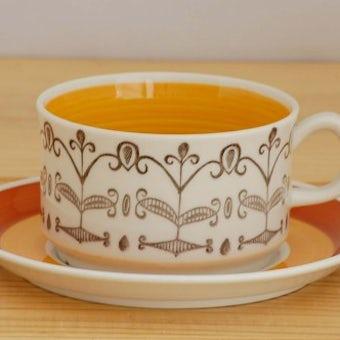 GEFLE/ゲフル(Upsala Ekeby/ウプサラエクビイ)/MARIA/ティーカップ&ソーサー(少々難アリ)の商品写真