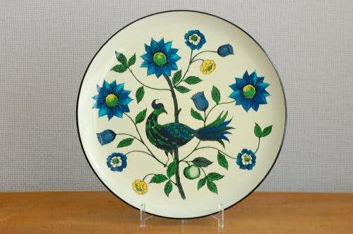 スウェーデンで見つけたプラスティック製のトレー(小鳥&お花模様)の商品写真