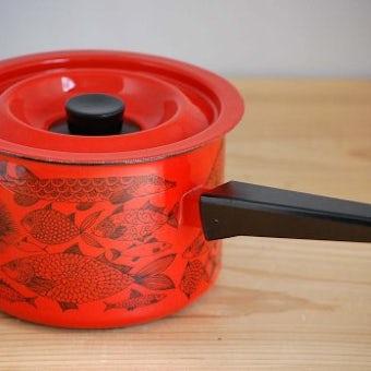 FINEL/フィネル/エステリ・トムラ/Neptun/ホーロー製の片手鍋(レッド)の商品写真