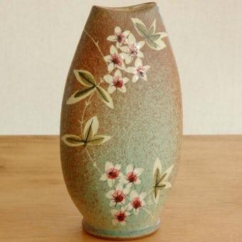 スウェーデン/Tilgmans/陶器の花瓶(グリーン)の商品写真