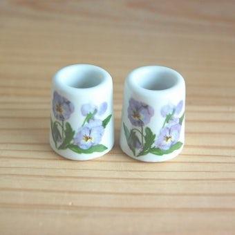 デンマークで見つけたお花模様が可愛いキャンドルスタンド2個セットの商品写真