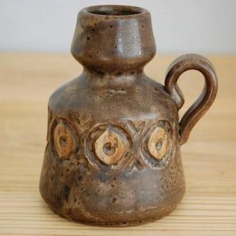 デンマーク製/LOVE MOSE/陶器の花瓶(ブラウン)の商品写真
