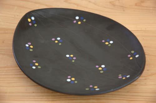 Upasala Ekeby/ウプサラエクビイ/楕円形プレート(ブラック)の商品写真