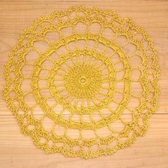 スウェーデンで見つけた手編みドイリー(ゴールド)の商品写真