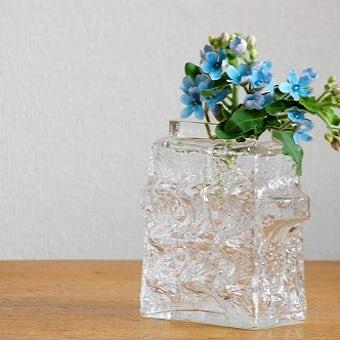 フィンランドで見つけたガラスの花瓶(クリア)の商品写真