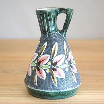 スウェーデン/Tilgmans/ティルグマン/陶器の一輪挿し(持ち手付き)の商品写真