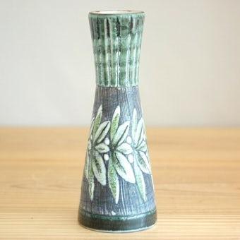 スウェーデン/Tilgmans/ティルグマン/陶器の一輪挿し(グリーン)の商品写真