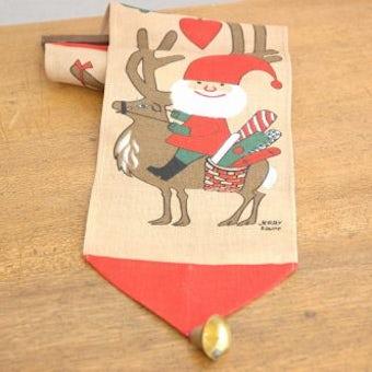 クリスマス!!/スウェーデンで見つけたタペストリー(サンタクロース、ベル付き)の商品写真
