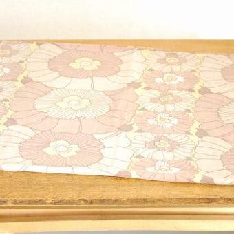 スウェーデンで見つけたクッションカバー(ブラウン花柄)の商品写真
