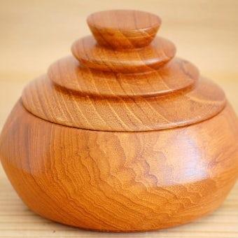 スウェーデンで見つけた木製キャニスター1の商品写真