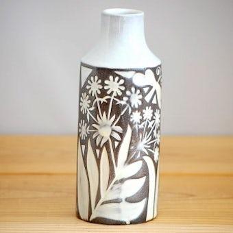 これはレア!!/Upsala Ekeby/ウプサラエクビイ/Mari Simmulsonデザイン/.陶器の花瓶(蝶と花)の商品写真