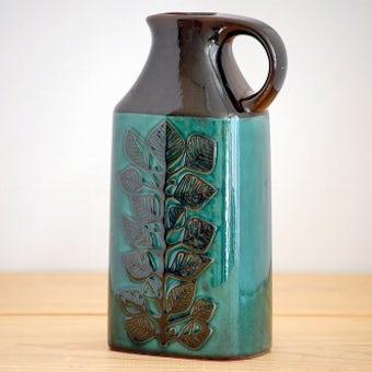 RORSTRAND/ロールストランド/LINDA/陶器の花瓶(葉っぱ)の商品写真