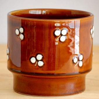 RORSTRAND/ロールストランド/ATELJE/陶器の植木鉢(ブラウン)の商品写真