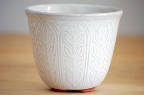 RORSTRAND/ロールストランド/陶器の植木鉢(ホワイト)刻印ありの商品写真