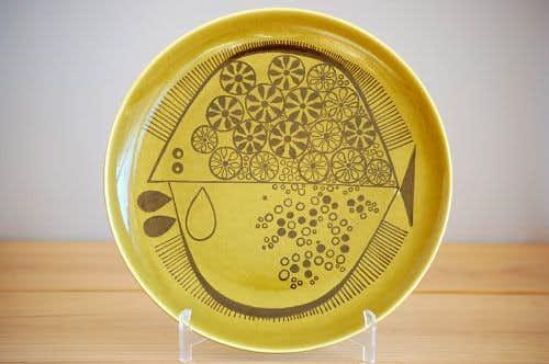Upsala Ekeby/ウプサラエクビイ/ディナープレート(モスグリーン)の商品写真