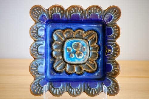 スウェーデン/JIE釜/陶器の壁掛け(ブルー)の商品写真
