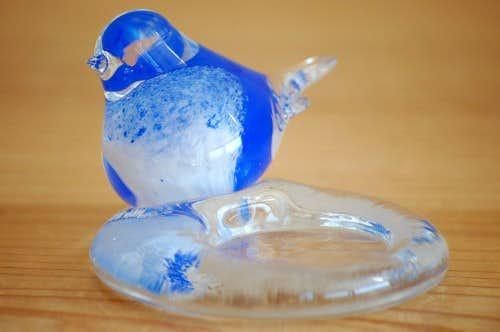 フィンランド/ガラス製小鳥のティーライトキャンドルホルダーの商品写真