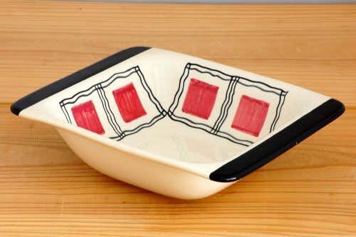 スウェーデン/JIE釜/スクエア深皿(四角い模様)の商品写真
