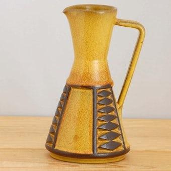デンマークで見つけた陶器の花瓶(ジャグ)の商品写真