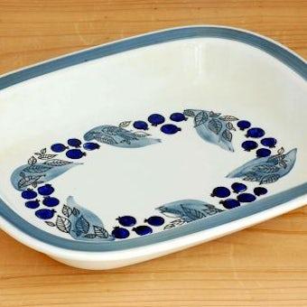 RORSTRAND/ロールストランド/GILIE/ブルーベリー柄が可愛い長方形プレート(深皿)の商品写真