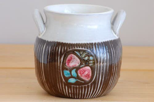 Upsala Ekeby/ウプサラエクビイ/Mari Simmulson/陶器のジャムポットの商品写真