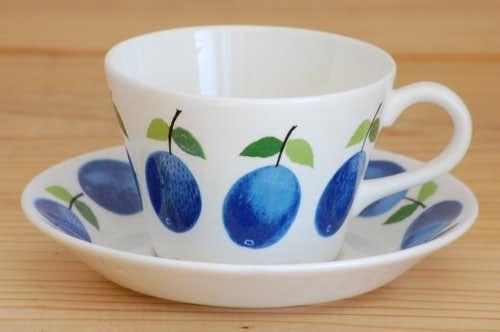 GUSTAVSBERG/グスタフスベリ/PRUNUS/プルーヌス/コーヒーカップ&ソーサー(少々難アリ)の商品写真