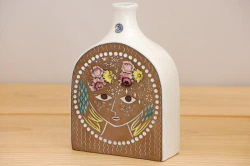 これはレア!!/Upsala Ekeby/ウプサラエクビイ/陶器の花瓶(美しい女性)の商品写真