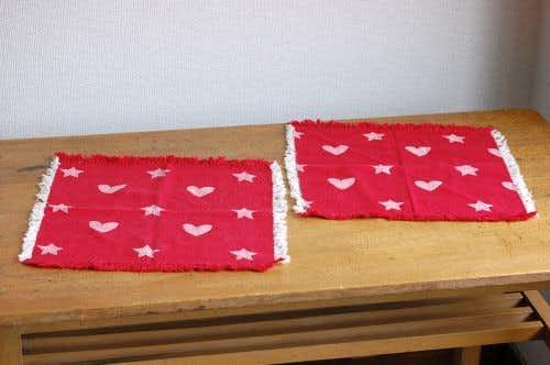 スウェーデンで見つけたセンタークロス2枚セット(レッド・ハートと星)の商品写真