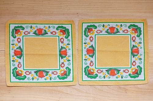 スウェーデンで見つけたセンタークロス2枚セット(マスタードイエロー花柄)の商品写真
