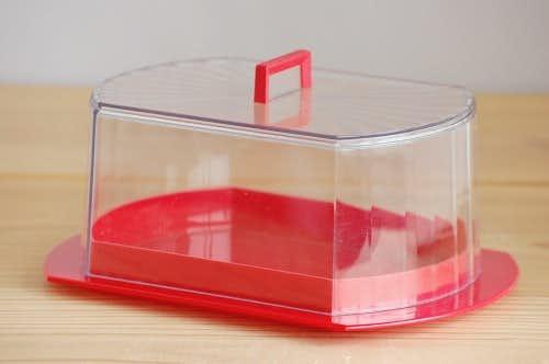 スウェーデンで見つけたプラスティック製チーズドーム(レッド)の商品写真