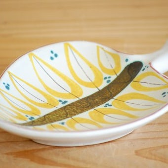 これはレア!!GUSTAVSBERG/グスタフスベリ/Stig Lindberg/アートピース/葉っぱ型の小皿の商品写真