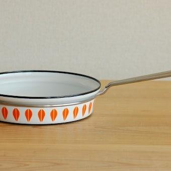 CATHERINEHOLM/キャサリンホルム/フライパン(オレンジ&ホワイト・蓋なし)の商品写真