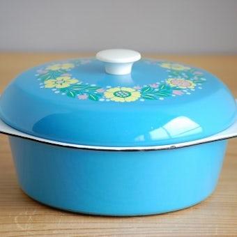 KOCKUMS/コクムス/ホーロー製キャセロール(ブルー花柄)の商品写真