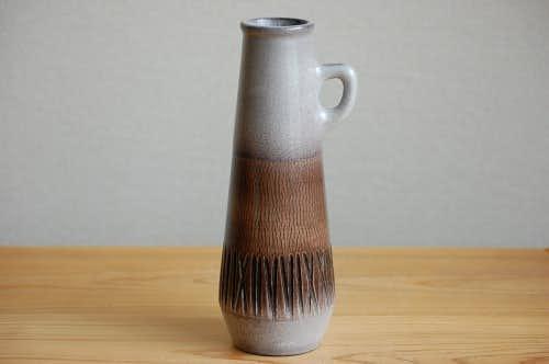 Upsala Ekeby/ウプサラエクビイ/陶器の花瓶(パープル&ブラウン)の商品写真