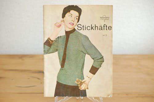 スウェーデンで見つけた古いファッションの本の商品写真