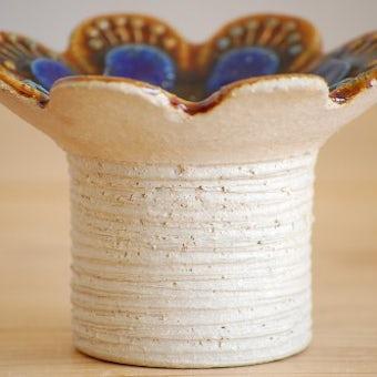 スウェーデン/JIE釜/お花の形の器(ブルー)の商品写真