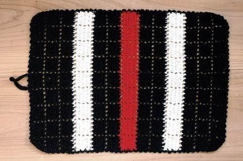 スウェーデンで見つけた手編みのマット(長方形・大)の商品写真